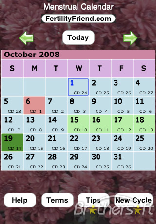 Free Menstrual Calendar
